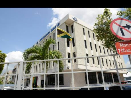 The HEART/NSTA Trust's corporate building at the corner of Oxford and Belmont roads in New Kingston.