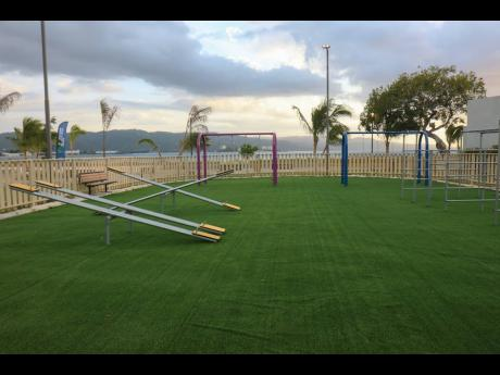A section of the newly opened Harmony Beach Park in Montego Bay, St James.