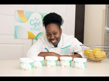 The confectioner behind That's Cold Ice Creamery, Shanique Bethune.