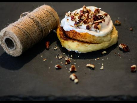 Walnuts add a woodsy taste yet the needed crunchy rhythm to a cinnamon roll.
