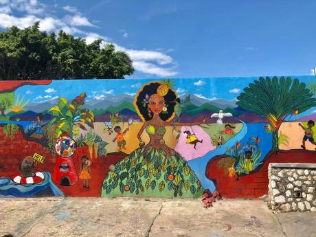The Southside mural which was donated to the Kingston-based community.