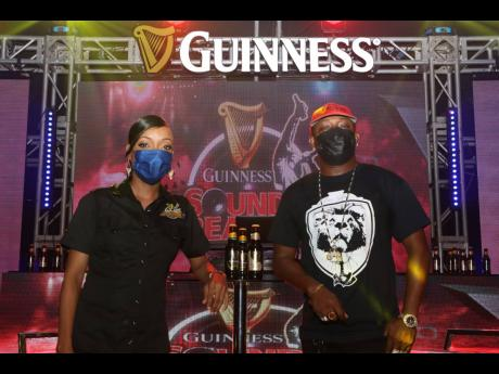 Guinness Brand Manager, Lyshon Davis, and Guinness Sounds of Greatness 2021 judge, legendary selector, Ricky Trooper.