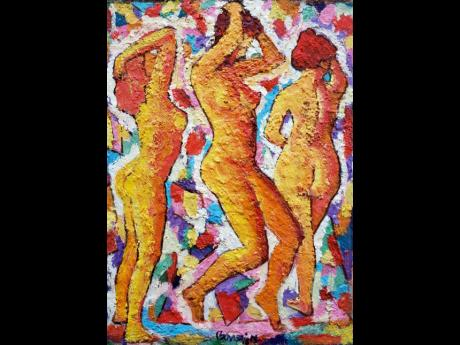 'Three Dancing Beauties' by Byron Bowden.