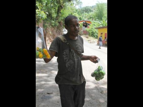 Afiba Clarke speaks of his love for farming.