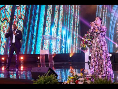 Songbird Tessanne Chin and gospel artiste Jermaine Edwards performed a beautiful rendition of 'The Blessing'.Songbird Tessanne Chin and gospel artiste Jermaine Edwards performed a beautiful rendition of 'The Blessing'.Songbird Tessanne Chin and gos