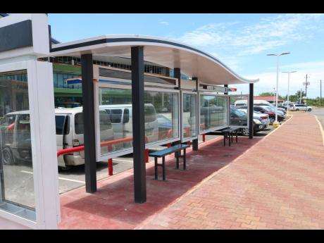 This stylish bus stop is among the facilities customers can enjoy when they visit the Boot Service Station in Drax Hall, St Ann.