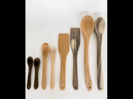 These wooden spoons are all made locally and by hand.