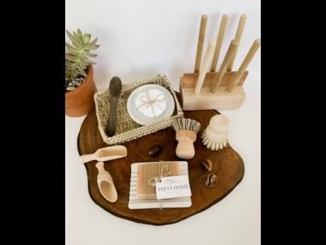 Veeva Home offers a variety of products, including pieces in natural earth tones to complement any space.