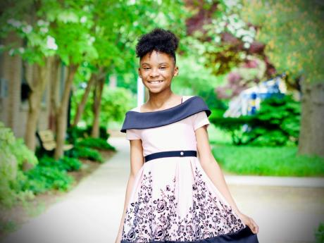 LEFT: Eleven-year-old Janessa Smith landed on the Christian Billboard charts with her gospel single, 'He's Able'.