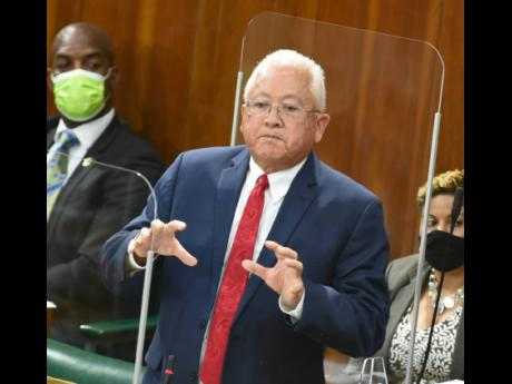 Minister of Justice Delroy Chuck.