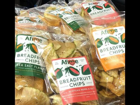 A Fi Me Snacks carries breadfruit, sweet potato, and coco root (taro) chips in a number of flavours.