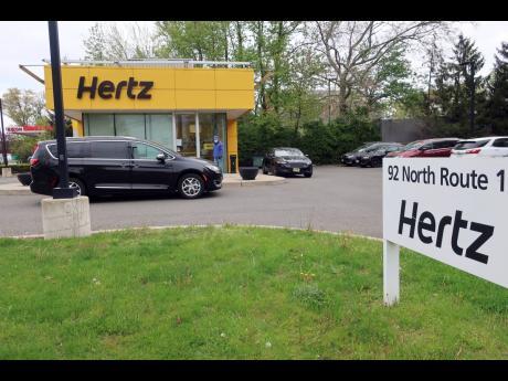 A closed Hertz car rental service.