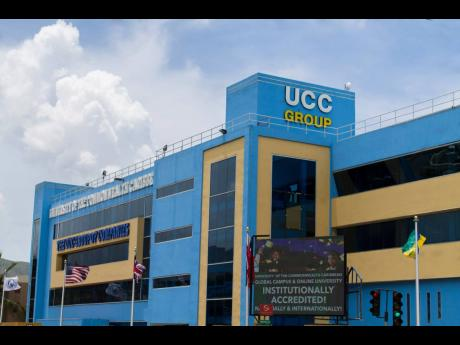 The University of the Commonwealth Caribbean Building in New Kingston.