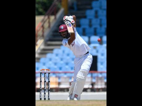 Batsman Roston Chase showed some resistance with a fighting 62 runs for the West Indies in their second innings against South Africa on day three of the first Test in St Lucia.