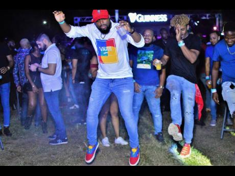 Patrons having fun at I Love Dancehall at the  Constant Spring Golf Club in St Andrew in December 2019.