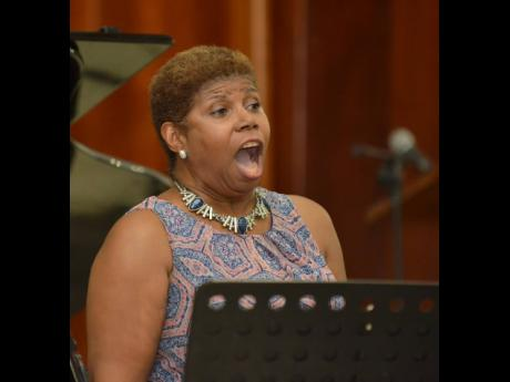 Mezzo-soprano Dahlia Dawn Fuller-Phillips performing at the 2019 staging of Classics In June at the UWI Chapel at the Mona Campus.