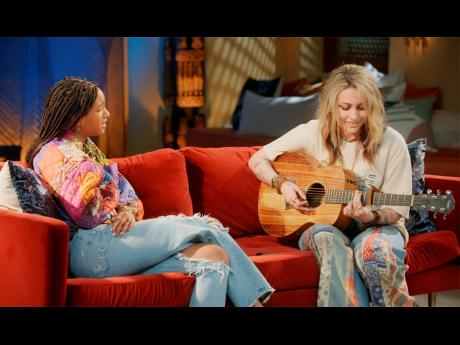 'Red Table Talk' host Willow Smith (left), and Paris Jackson, who will appear in an episode of the talk show series to discuss living under the media glare. The episode will be available on Wednesday on Facebook Watch.