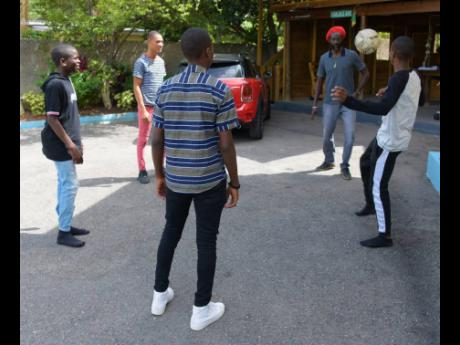 The wards also played a game of football with Buju Banton.