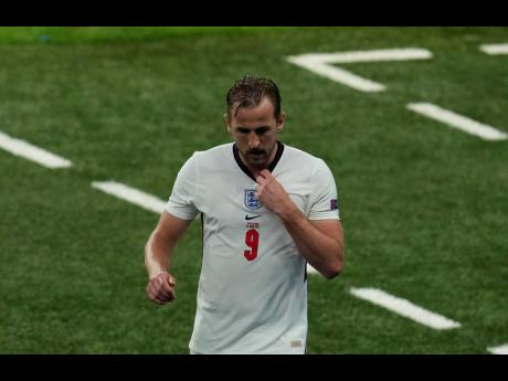 England's Harry Kane leaves the pitch during the Euro 2020 championship Group D match between England and Scotland at Wembley stadium, in London, yesterday. The game ended in a 0-0 draw.