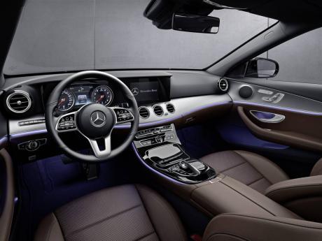 Mercedes Benz E-Class interior.