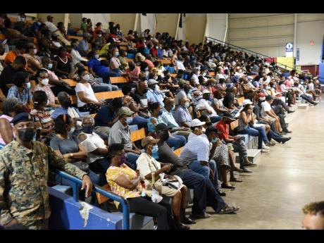 The National Arena in St Andrew had to be closed early because of the large turnout. A total of 1,507 persons were inoculated with their second dose of the COVID-19 shot at the National Arena, the health ministry said.