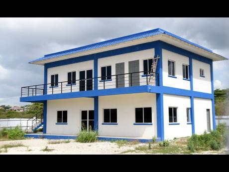 The new Green Acres Police Station located on St Johns Road in St Catherine. It has not been commissioned for use a year after it was initially due to be completed.