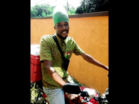 Bobo Negus is pressing on with his selling of a variety of juices despite having his bike stolen.