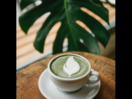 The Matcha Coffee Latte is tasty, plus matcha has a number of health benefits.