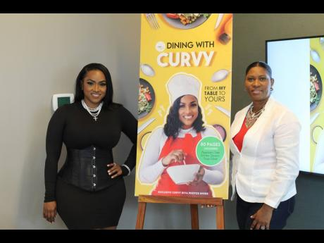 Host-turned-recording artiste, restaurateur, and now author, Yanique 'Curvy Diva' Barrett (left), and Ingrid Abrahams Larmond, COO of Pageturner.