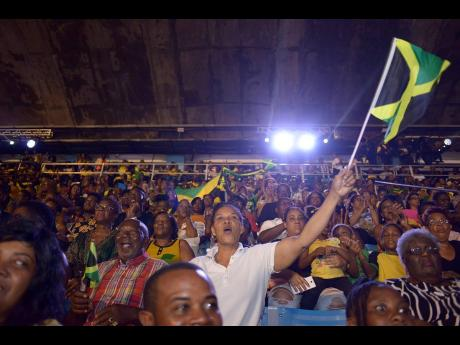 Patriotic Jamaicans show their support for the activities happening at the 2019 staging of the Independence Grand Gala. The annual event, which is held at the National Stadium, was cancelled last year as the country faced setbacks from the global pandemic.