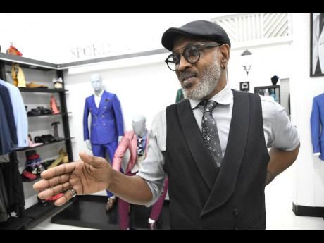 Dexter Huxtable, designer of menswear at Spokes Apparel, is hoping for some buoyancy in business.
