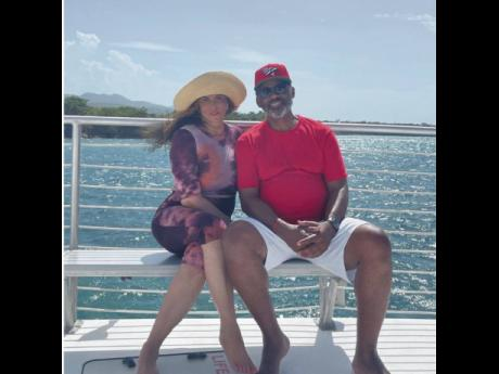 'Jamaica with my Boo', Tina Knowles-Lawson captioned this snap of herself and husband, Richard Lawson.