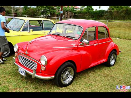 An immaculately restored Morris Minor 1000. Real British classic.
