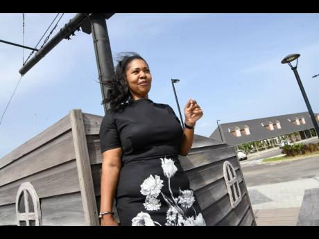 Kimberley Stiff, assistant vice president, marketing and communications at the Port Authority of Jamaica gives a tour of the Historic Naval Dockyard in Port Royal.