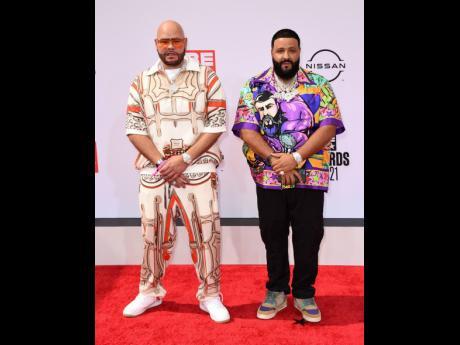 Fat Joe (left) and DJ Khaled arrive at the BET Awards.