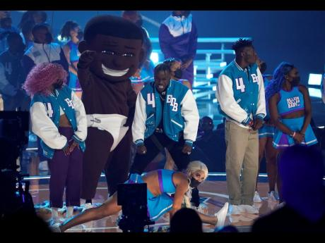 DaBaby performs at the BET Awards on Sunday.