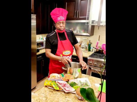 Chef Dave Rodney at home preparing something tasty.