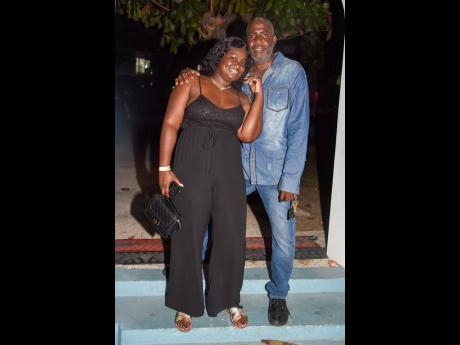 Casheda Grant-Samuels and Waldo Samuels enter the archway of the dance floor at the Grand Hotel Excelsior Port Royal.