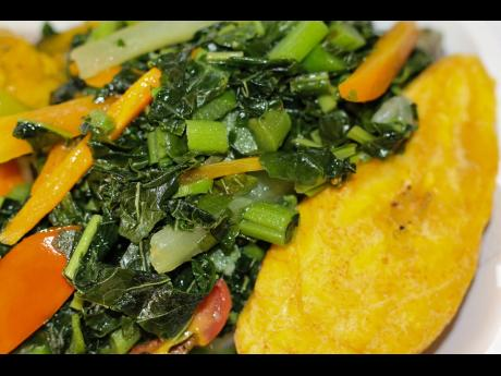 Early Morning Restaurant takes pride in its steamed callaloo.