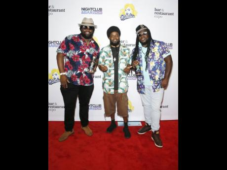 Multi-Grammy Award winners Morgan Heritage make a red carpet entrance at the Nightclub and Bar Show.