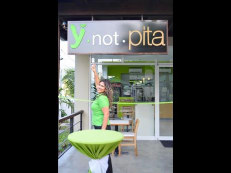 Nancy Hado, co-principal of Y Not Pita. The Hados opened the doors to the eatery in  July 9, 2012.