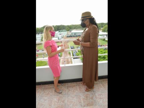 Vivianna Andermatt, who is visiting from Switzerland,  chats with CEO of  SVREL Lorna Gooden.