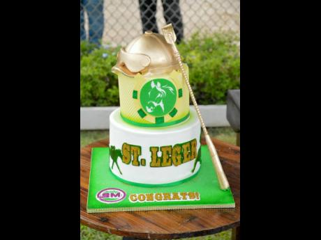 The celebratory cake for the winner of the 95th running of the St Leger.