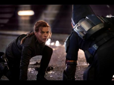 This image released by Marvel Studios shows Scarlett Johansson in a scene from 'Black Widow'.