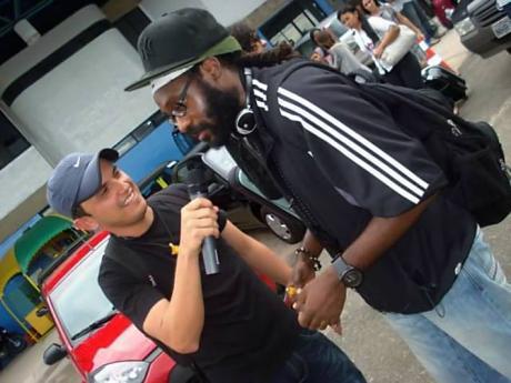 DJ Waldiney (left) and Tarrus Riley.