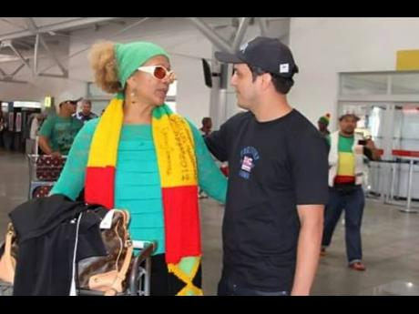 DJ Waldiney (right), and Marcia Griffiths.