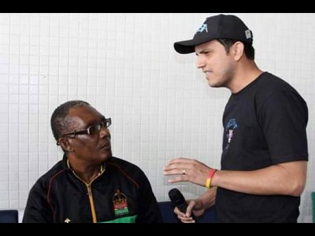 DJ Waldiney (right) and Ken Boothe.