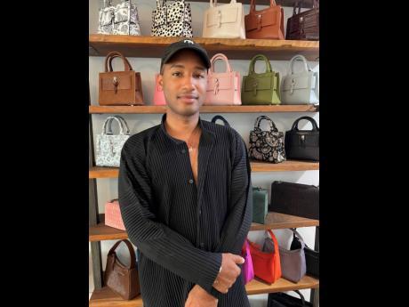 Jamaican handbag designer, Brandon Blackwood, in his new Brooklyn, New York office.