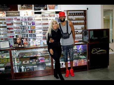 Esco Da Shocker (right), owner of EC Makeup Bar, and Yaquema Sewell, the store's manager.