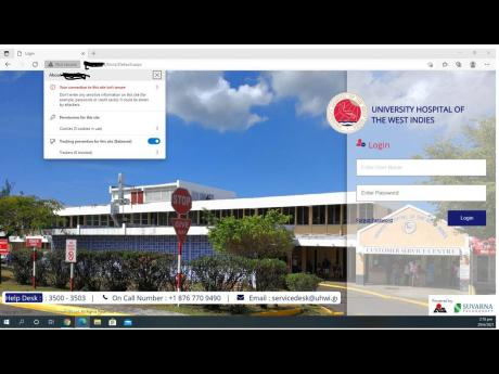 """Over the past month, The Gleaner has interviewed over a dozen UHWI staff who interact at different levels with the web-based HIMS, as well as several patients, after observing a staff being warned upon entering the system that the """"connection"""" to the s"""